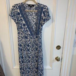 Lulu's floral wrap dress